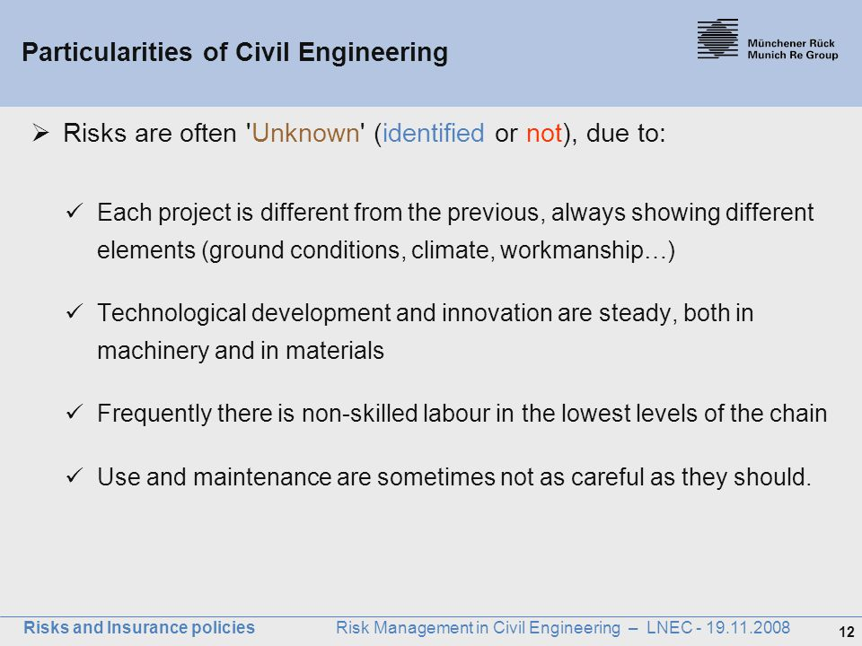 Particularities of Civil Engineering