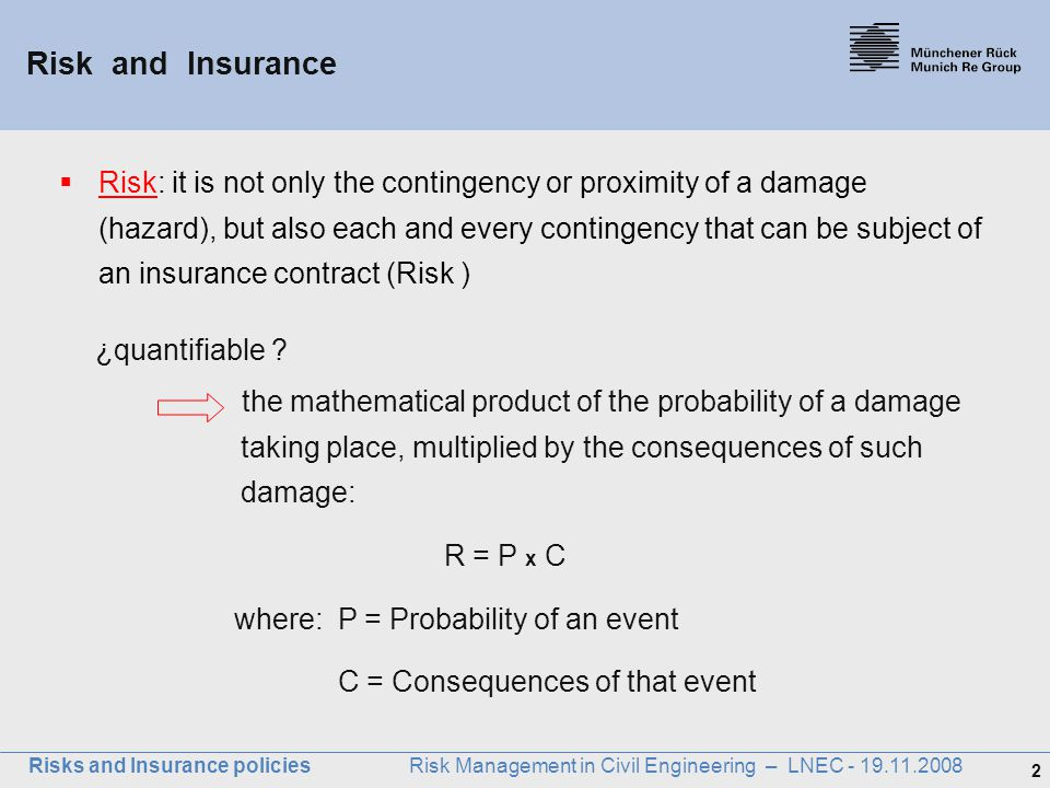 Münchener Rück Risk and Insurance.
