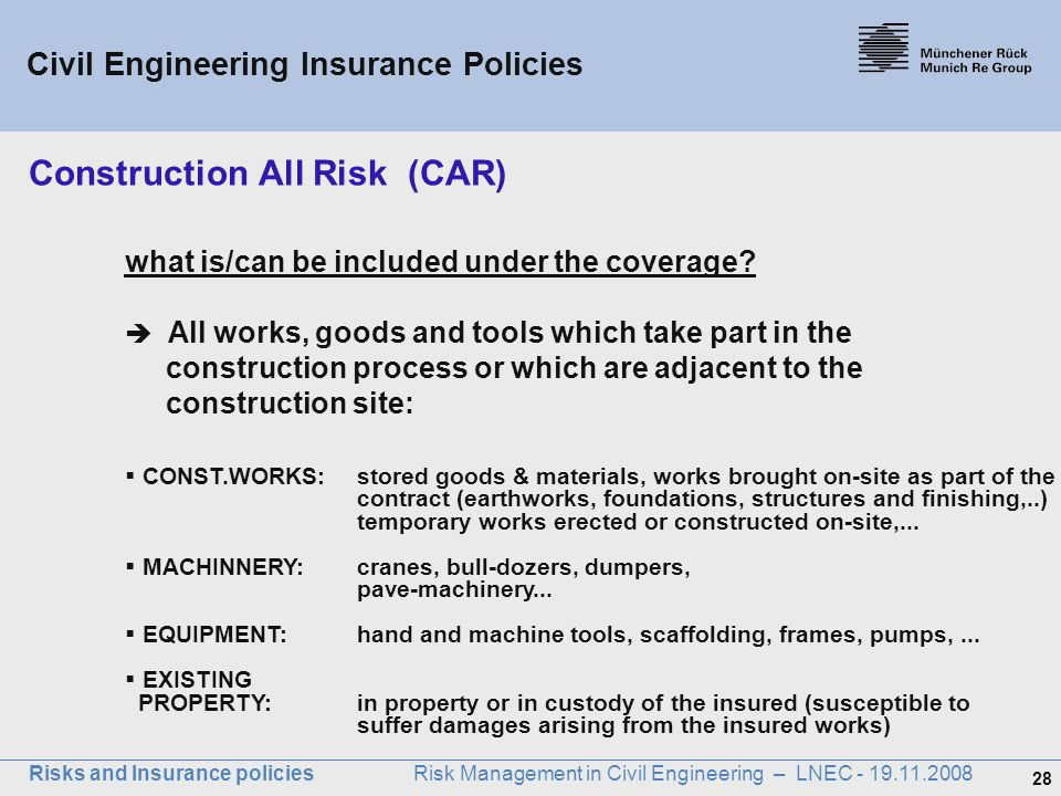 Construction All Risk (CAR)