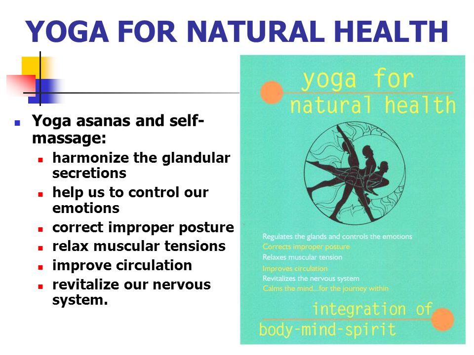 YOGA FOR NATURAL HEALTH