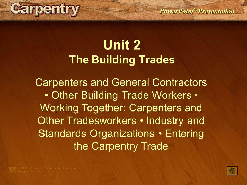 Unit 2 The Building Trades