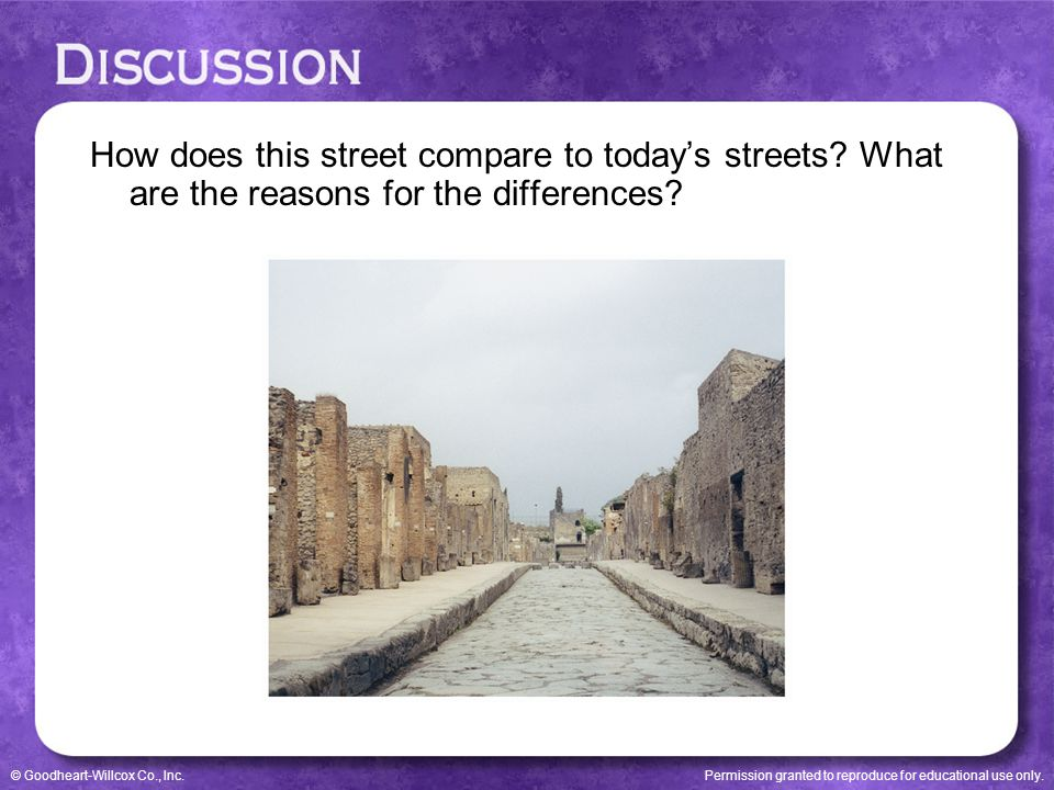 How does this street compare to today's streets