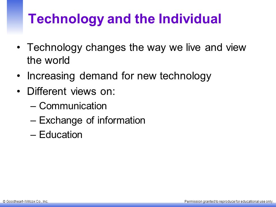 Technology and the Individual