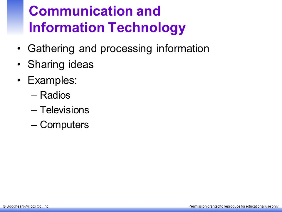 Communication and Information Technology
