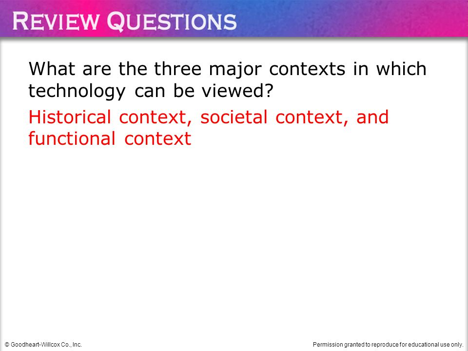 What are the three major contexts in which technology can be viewed
