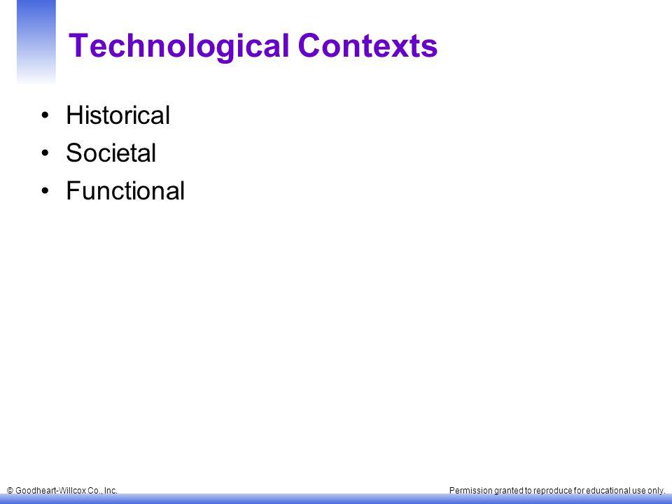 Technological Contexts