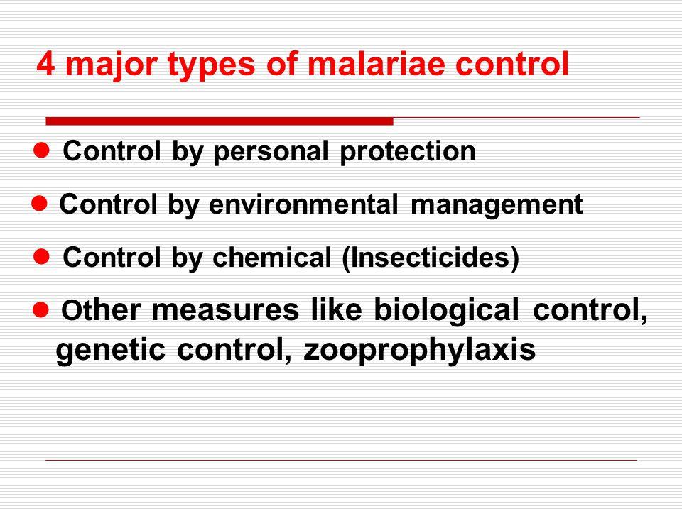 4 major types of malariae control