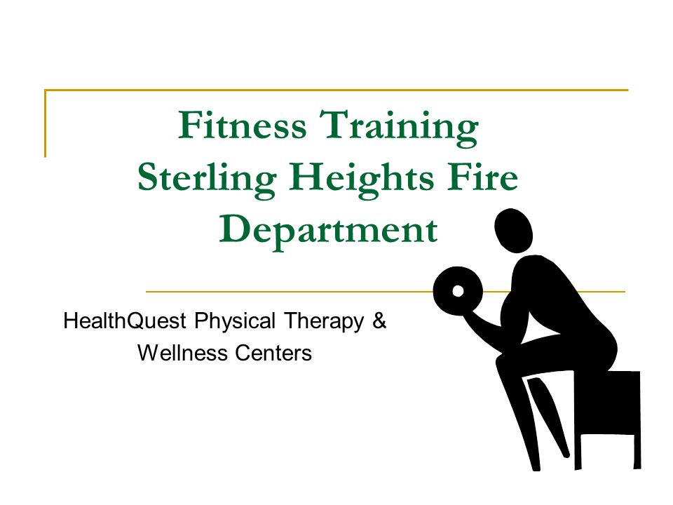 Fitness Training Sterling Heights Fire Department