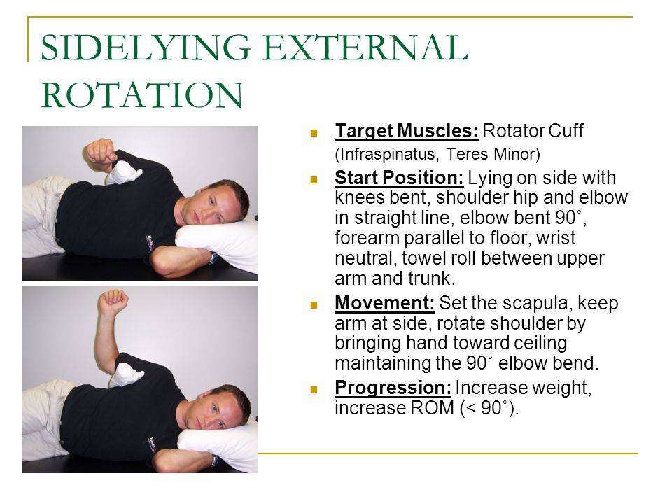 SIDELYING EXTERNAL ROTATION