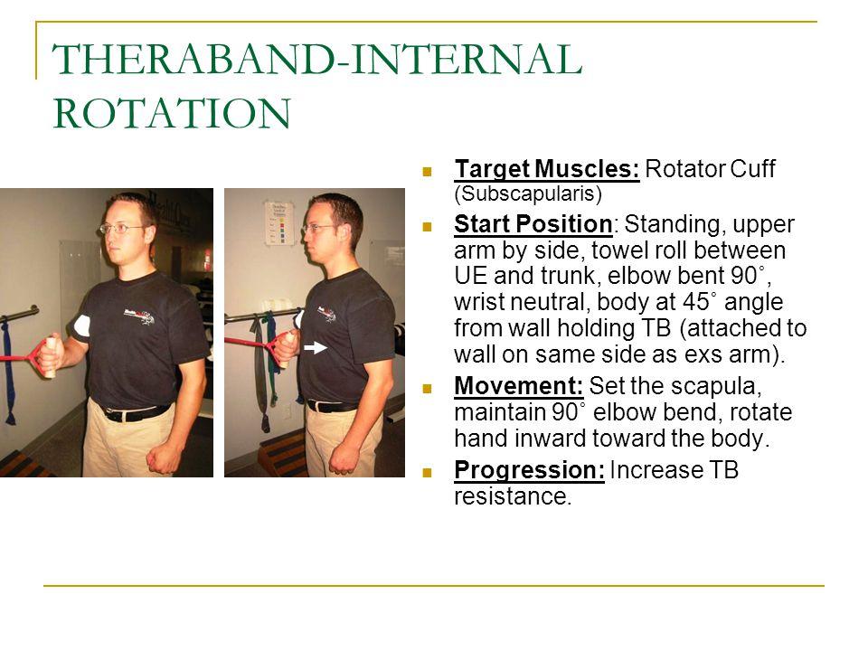 THERABAND-INTERNAL ROTATION