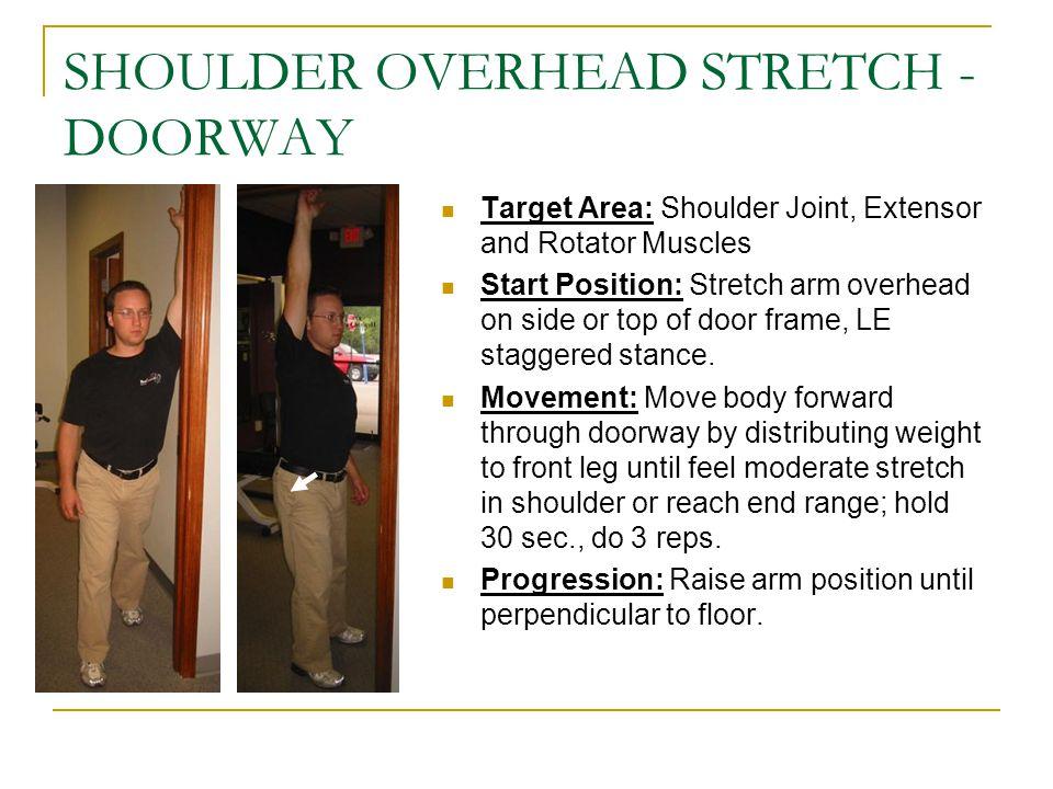 SHOULDER OVERHEAD STRETCH -DOORWAY
