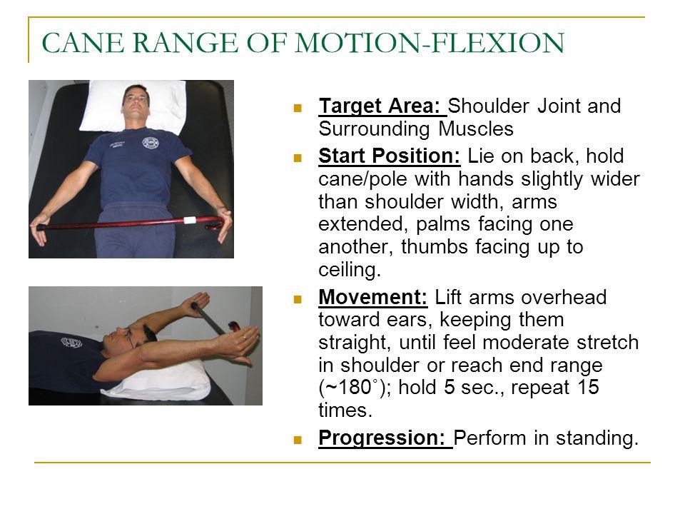 CANE RANGE OF MOTION-FLEXION