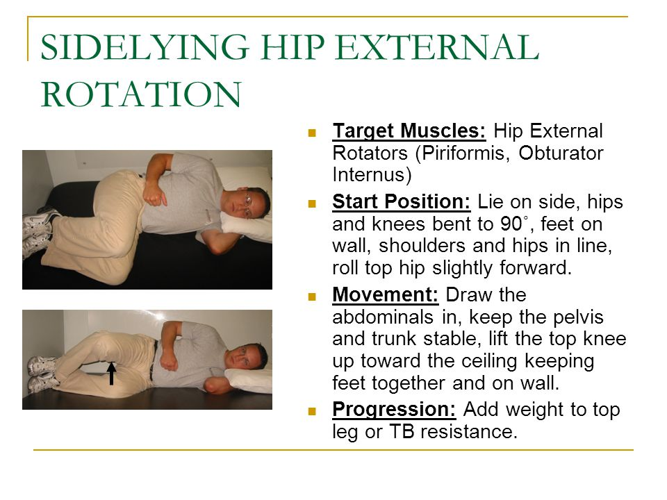 SIDELYING HIP EXTERNAL ROTATION