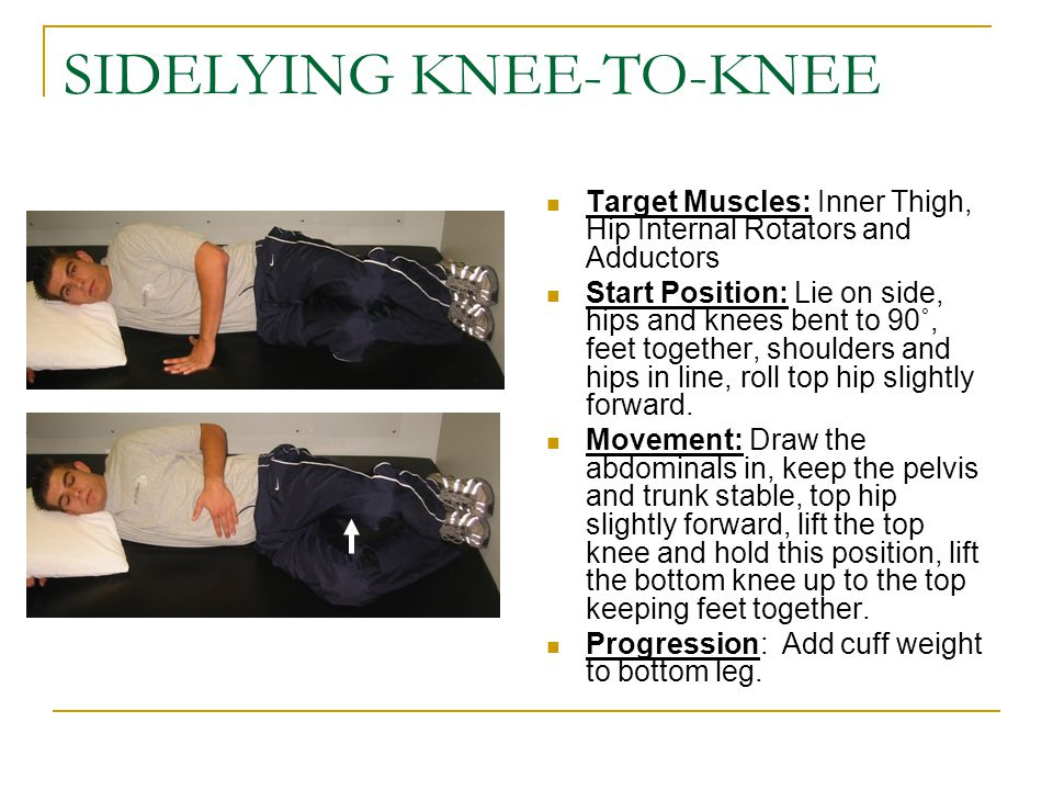 SIDELYING KNEE-TO-KNEE
