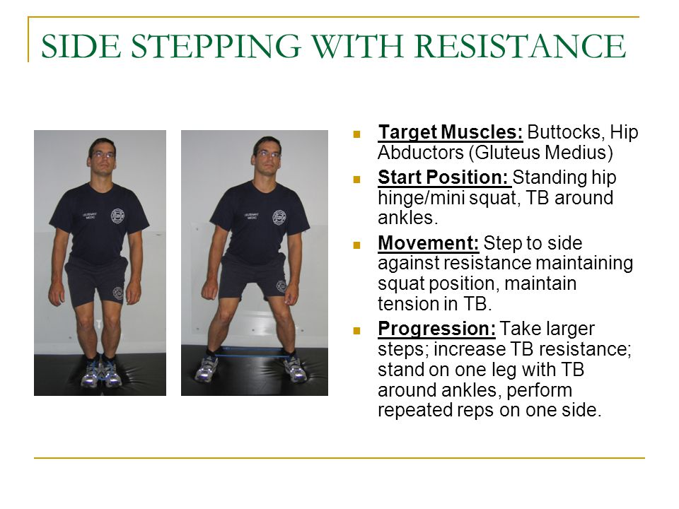 SIDE STEPPING WITH RESISTANCE