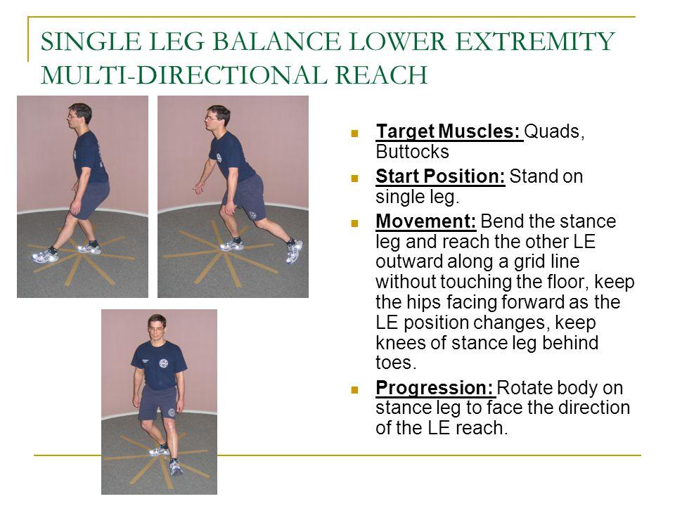 SINGLE LEG BALANCE LOWER EXTREMITY MULTI-DIRECTIONAL REACH