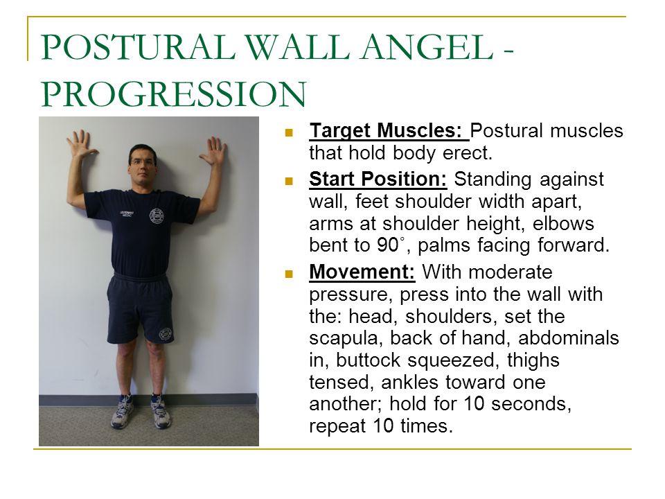POSTURAL WALL ANGEL -PROGRESSION
