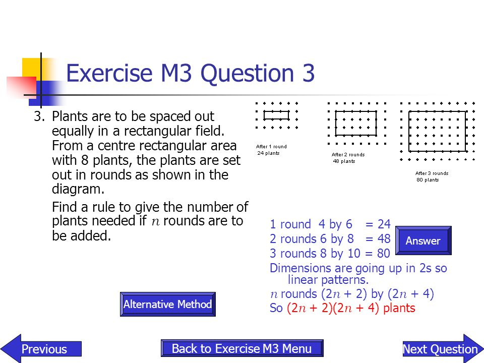 Exercise M3 Question 3