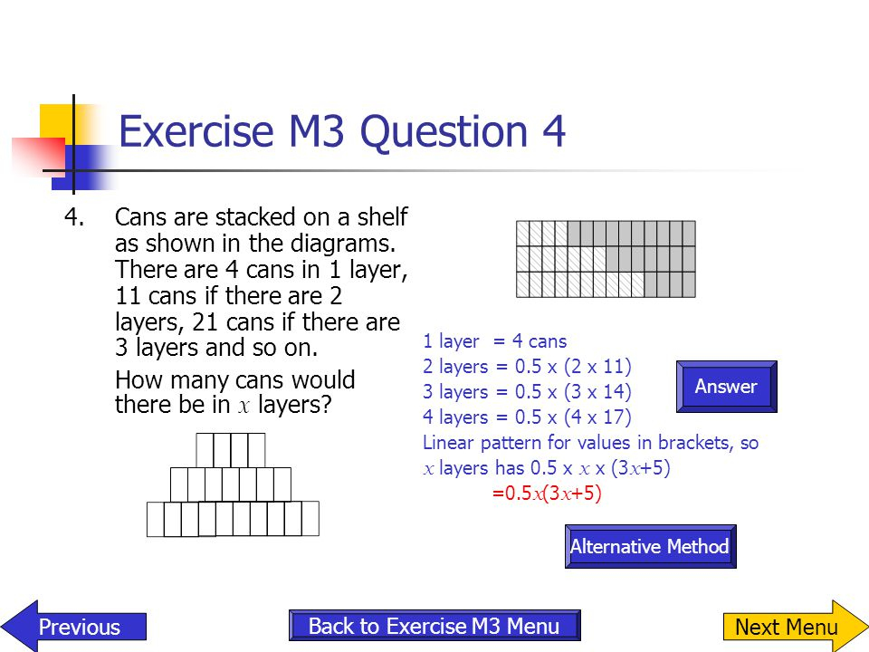 Exercise M3 Question 4