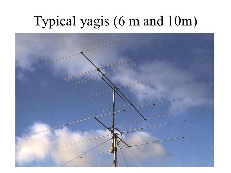 Typical yagis (6 m and 10m)