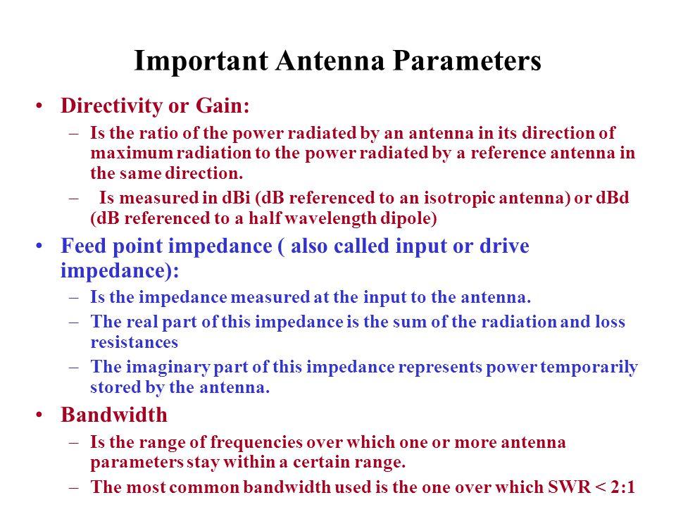 Important Antenna Parameters