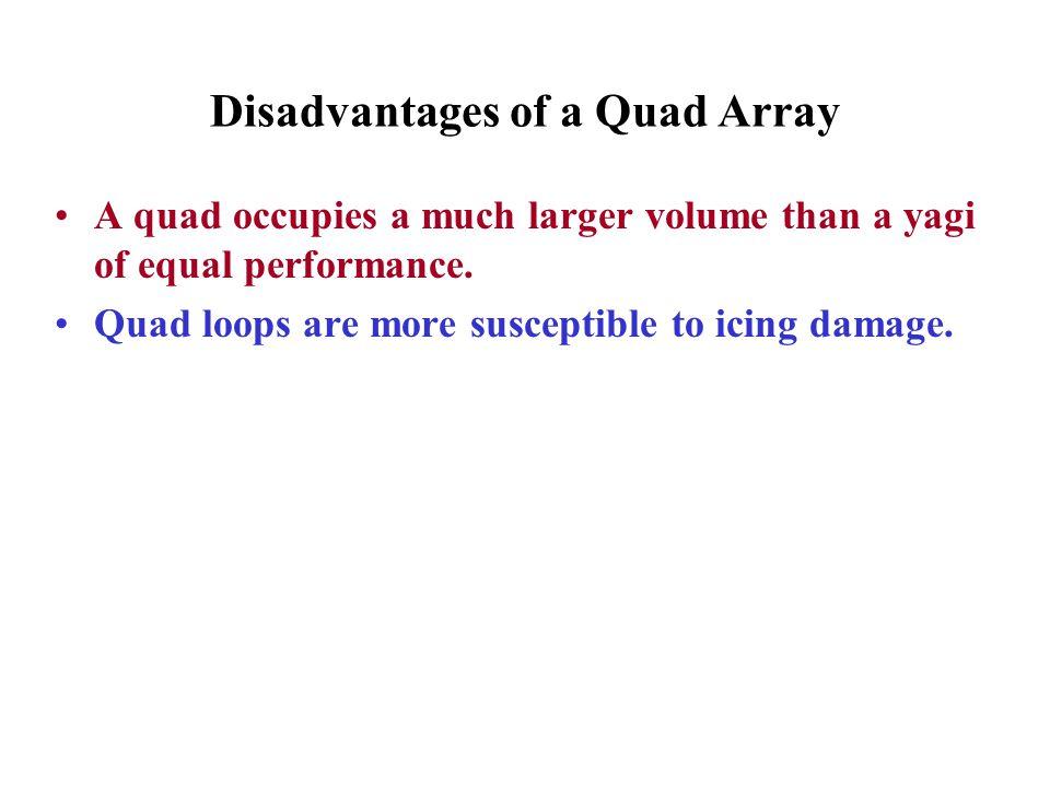 Disadvantages of a Quad Array
