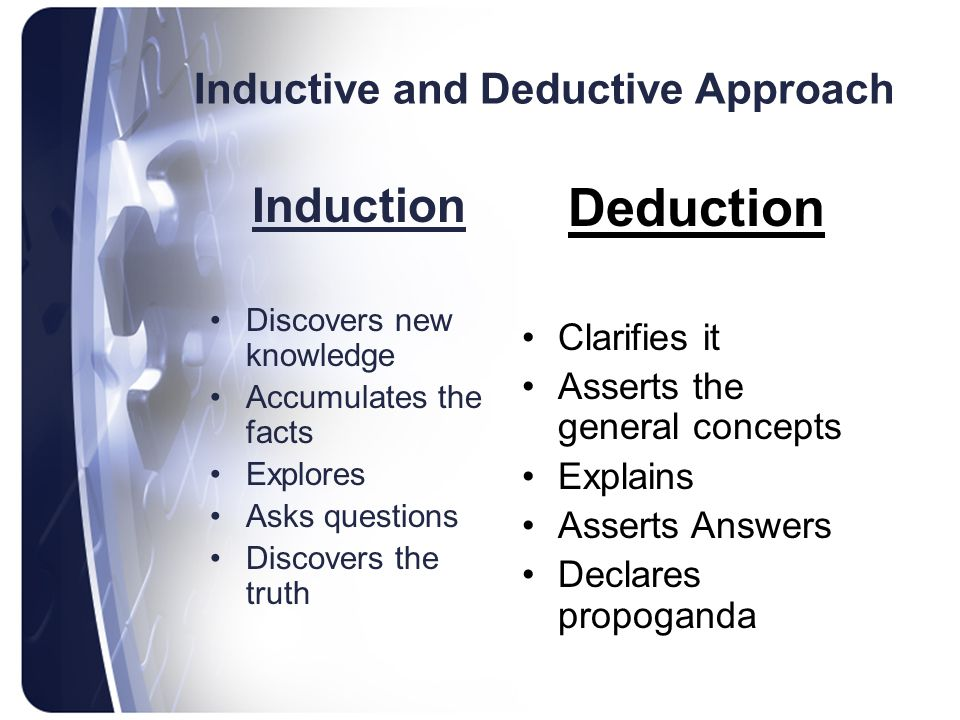 Inductive and Deductive Approach