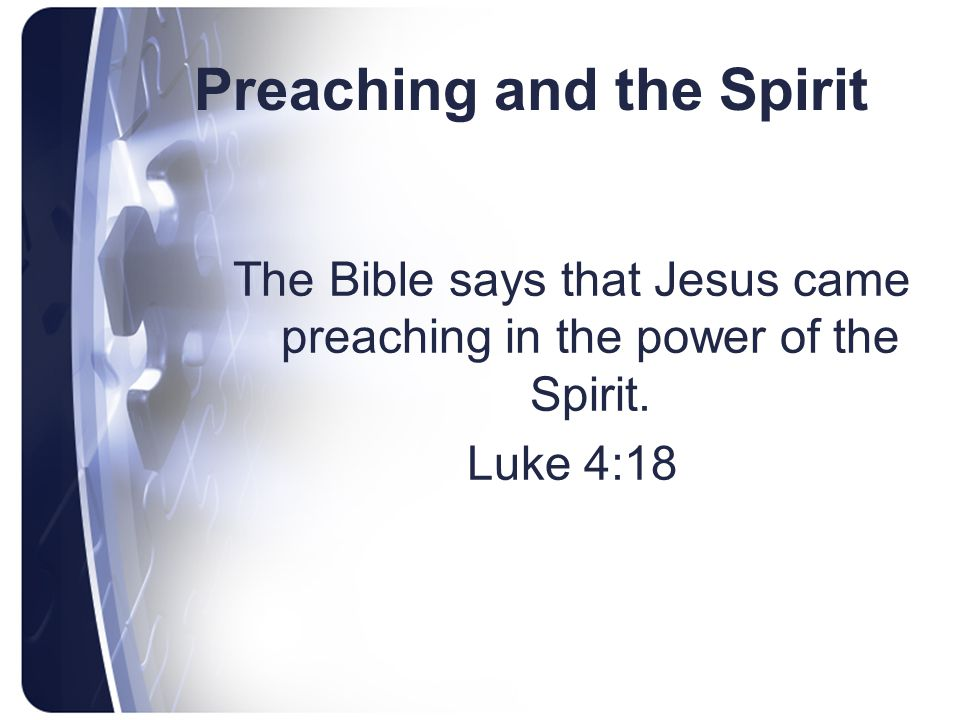 Preaching and the Spirit