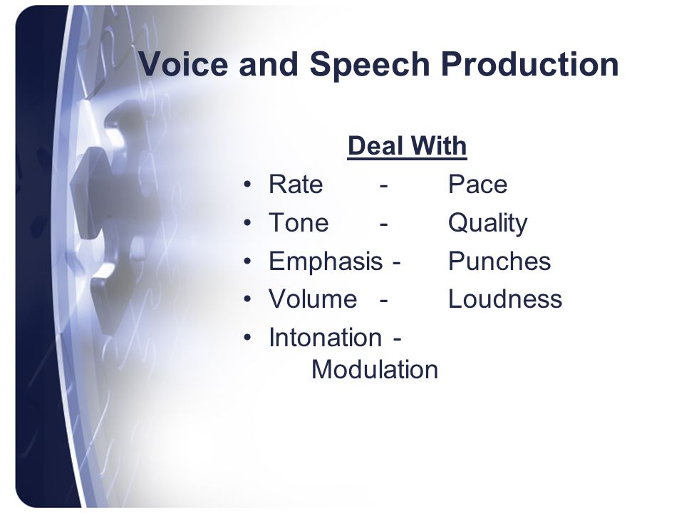 Voice and Speech Production