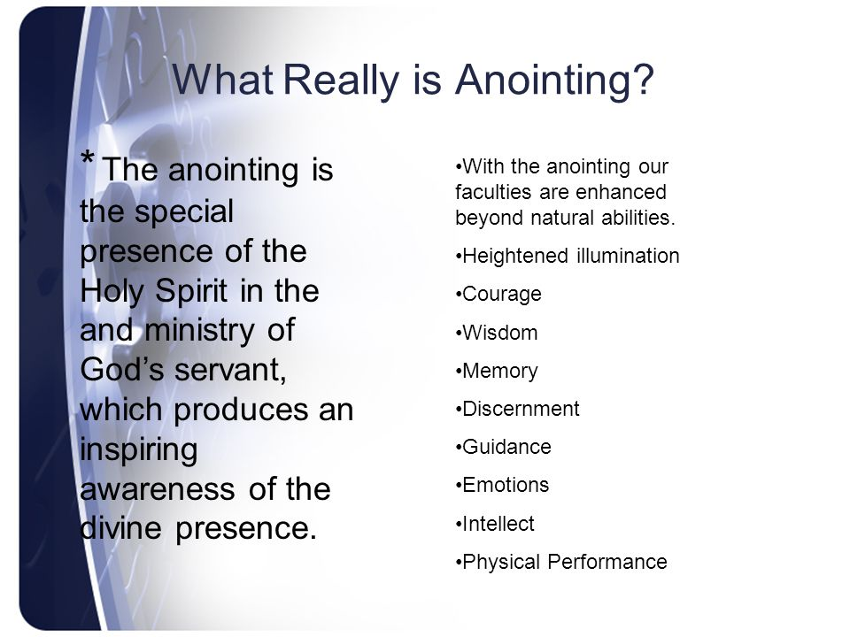 What Really is Anointing