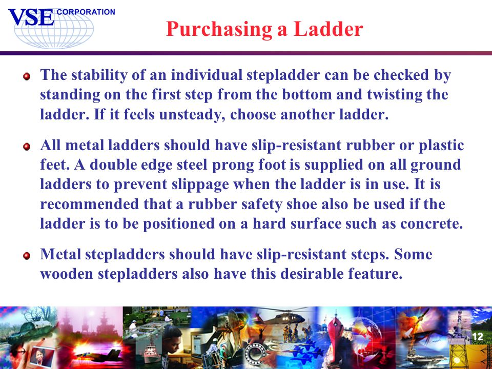 Purchasing a Ladder