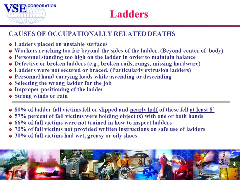 Ladders CAUSES OF OCCUPATIONALLY RELATED DEATHS