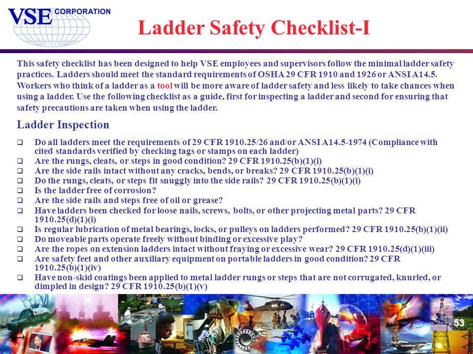 Ladder Safety Checklist-I