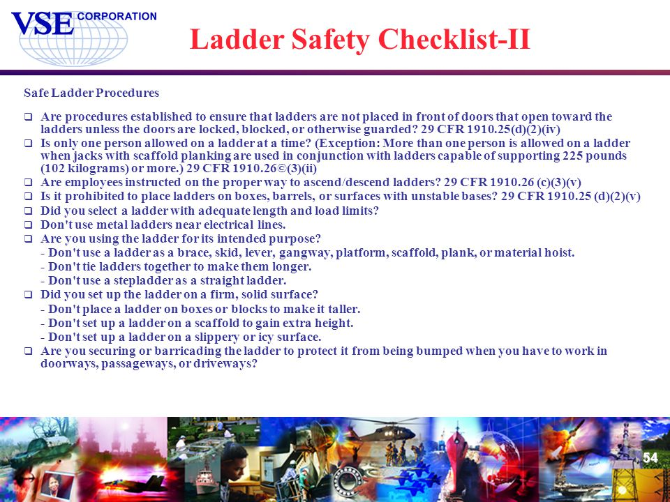 Ladder Safety Checklist-II