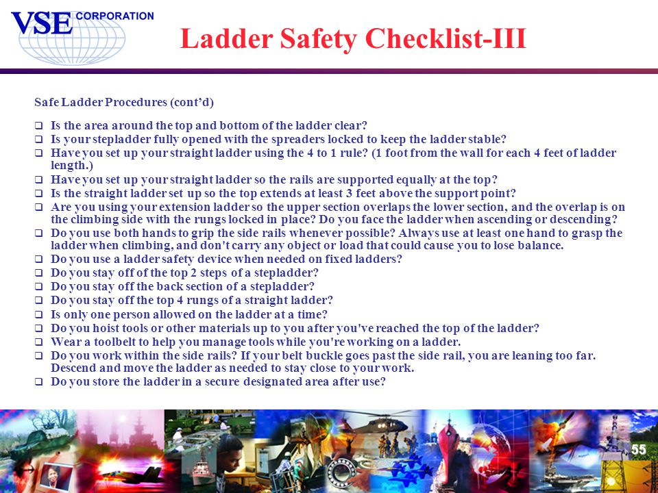 Ladder Safety Checklist-III