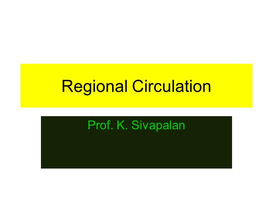 Regional Circulation Prof. K. Sivapalan