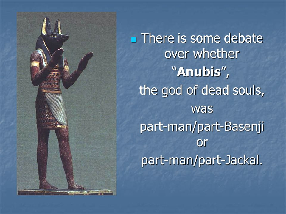 There is some debate over whether Anubis , the god of dead souls, was