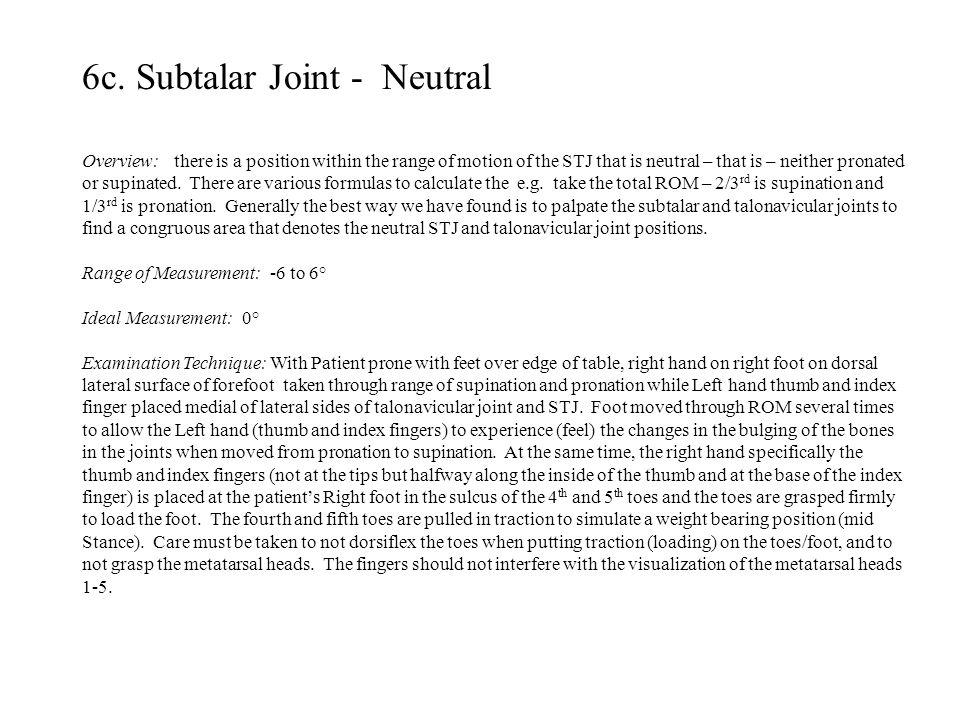 6c. Subtalar Joint - Neutral