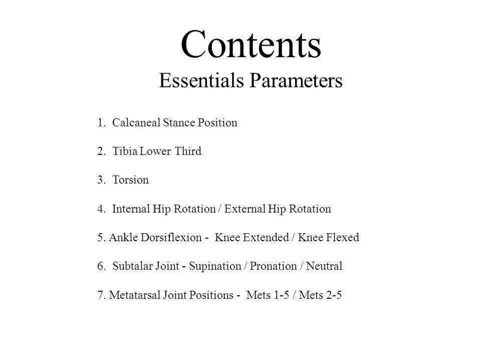 Essentials Parameters