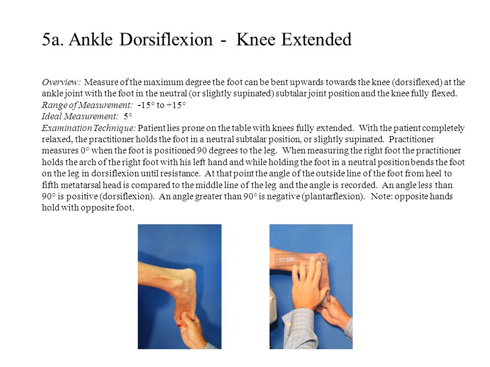 5a. Ankle Dorsiflexion - Knee Extended