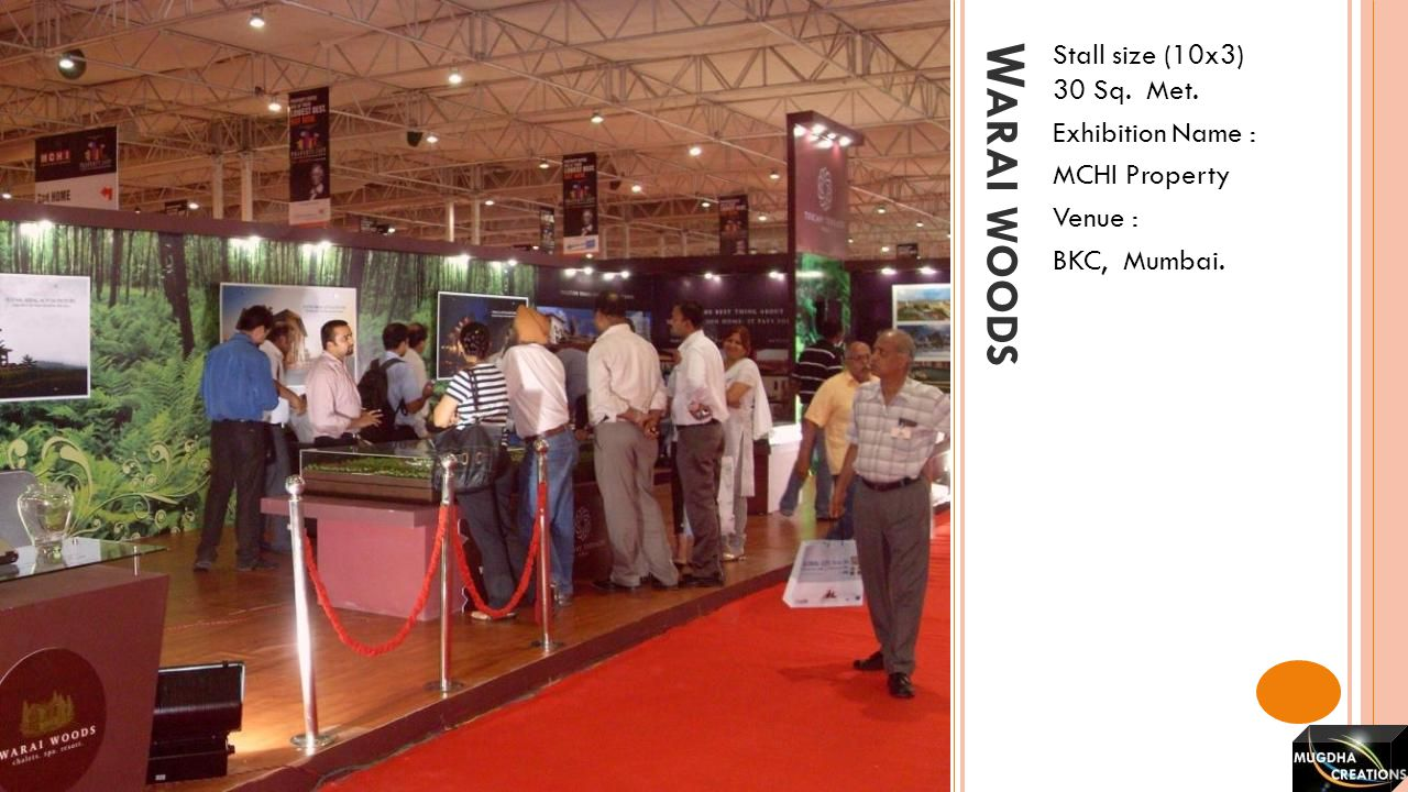 Warai woods Stall size (10x3) 30 Sq. Met. Exhibition Name :