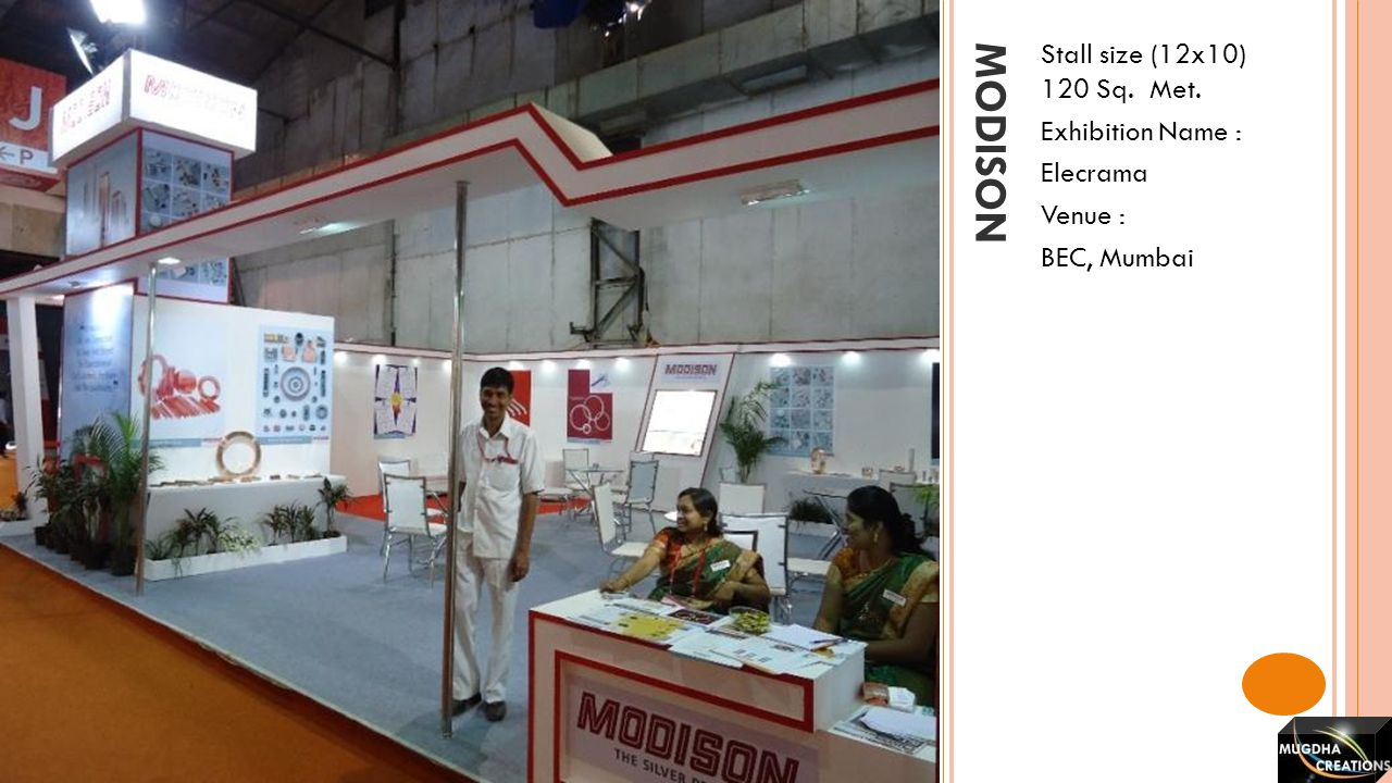 modison Stall size (12x10) 120 Sq. Met. Exhibition Name : Elecrama
