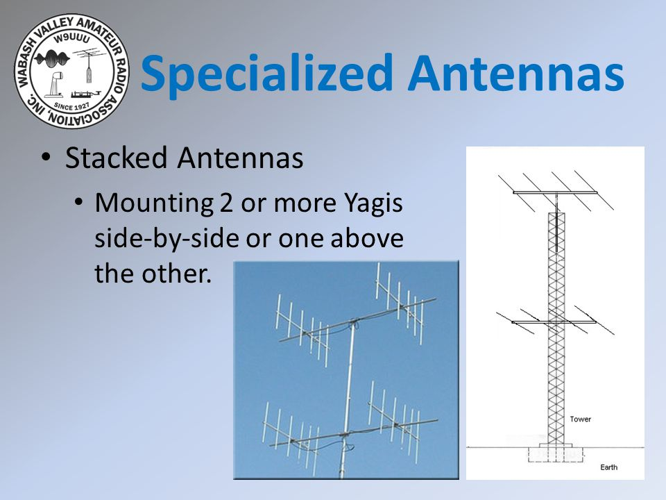 Specialized Antennas Stacked Antennas