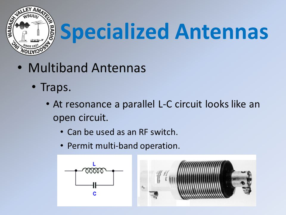 Specialized Antennas Multiband Antennas Traps.