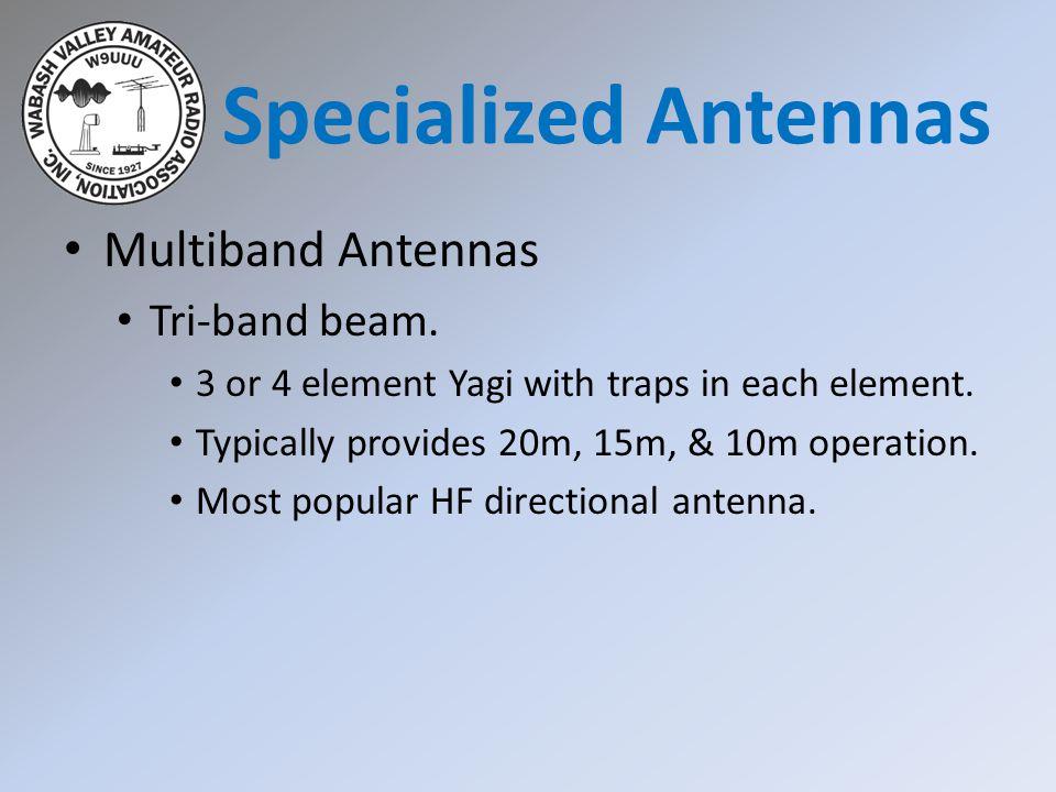 Specialized Antennas Multiband Antennas Tri-band beam.
