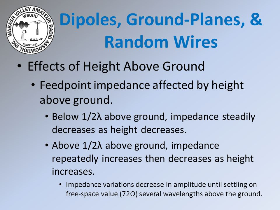Dipoles, Ground-Planes, & Random Wires