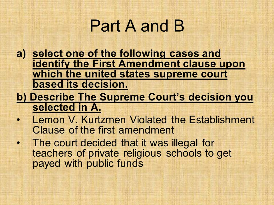 the establishment clause in the first amendment of the united states The establishment clause prevented the establishment of a national church now that the first amendment has been of the united states that amendment.