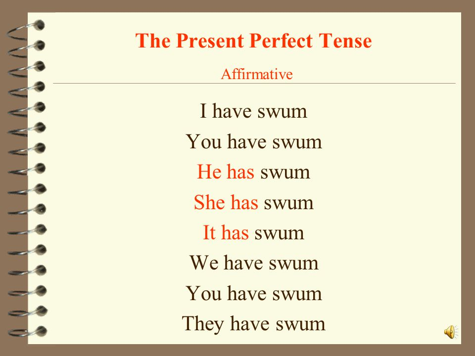 The Present Perfect Tense Affirmative