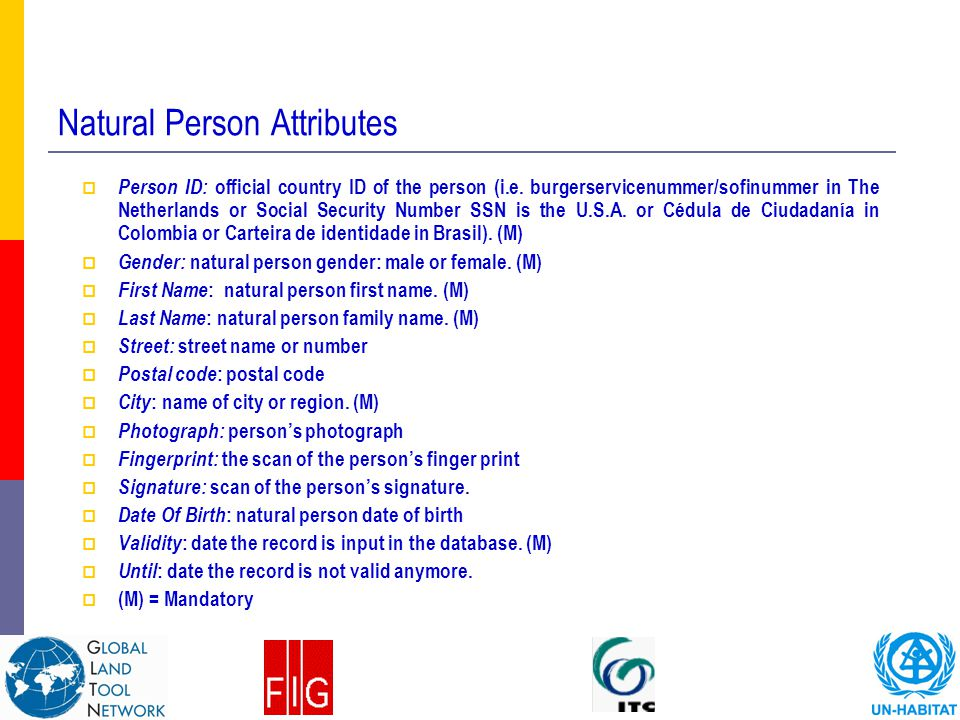 Natural Person Attributes