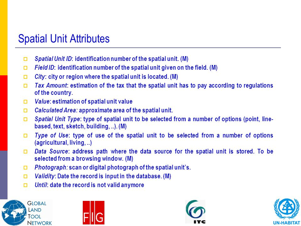 Spatial Unit Attributes